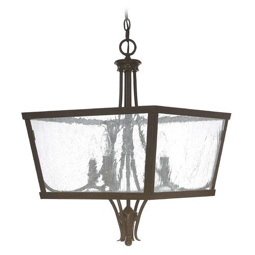 Capital Lighting Capital Lighting Abbey Russet Pendant Light with Square Shade 4998RS
