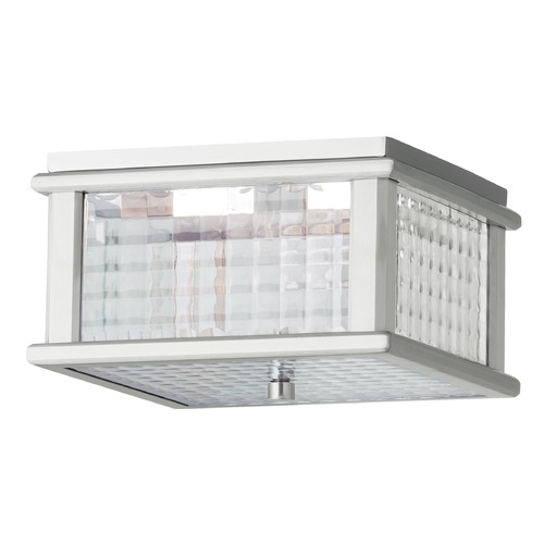 Feiss Lighting Feiss Lighting Mission Lodge Brushed Aluminum LED Close To Ceiling Light OL3413BRAL-LED
