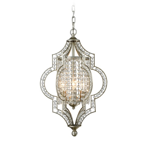 Elk Lighting Elk Lighting Gabrielle Aged Silver Pendant Light 16270/3