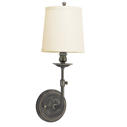 Hudson Valley Lighting Sconce Wall Light with White Shade in Old Bronze Finish 171-OB