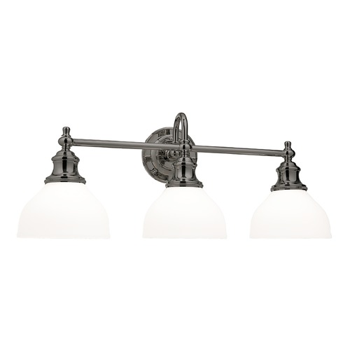Hudson Valley Lighting Bathroom Light with White Glass in Antique Nickel Finish 5903-AN