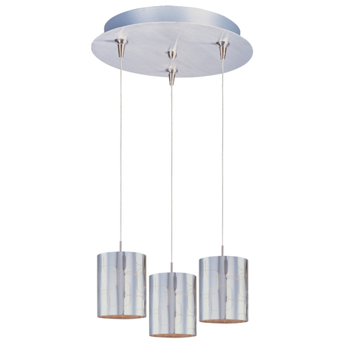 ET2 Lighting Modern Low Voltage Multi-Light Pendant Light with Clear Glass and 3-Lights E94607-69SN