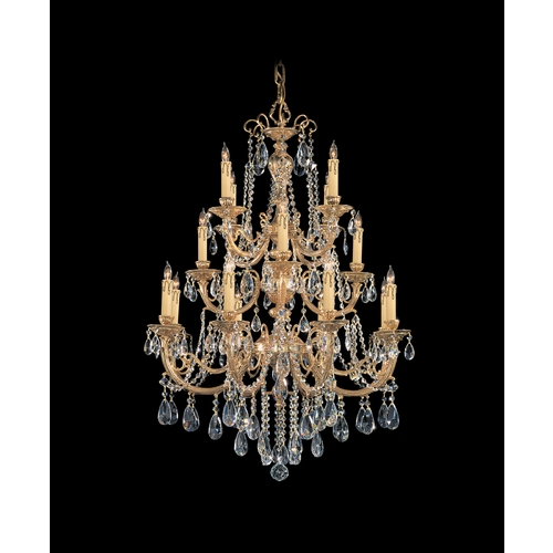Crystorama Lighting Crystal Chandelier in Olde Brass Finish 480-OB-CL-MWP