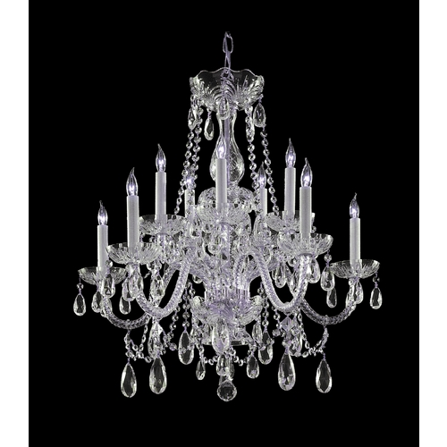 Crystorama Lighting Crystal Chandelier in Polished Brass Finish 1130-CH-CL-MWP