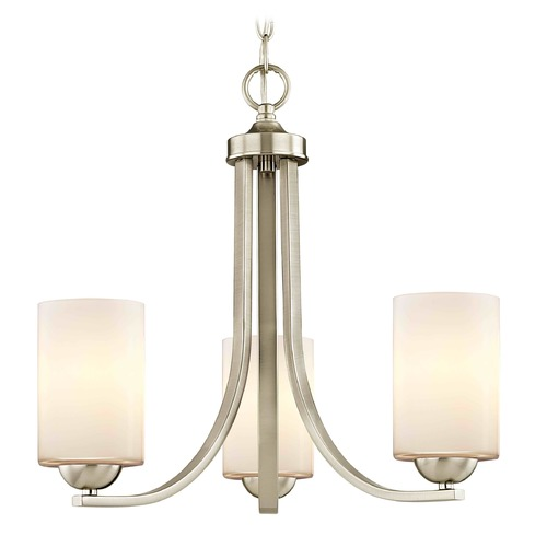 Design Classics Lighting Design Classics Dalton Fuse Satin Nickel Mini-Chandelier 5843-09 GL1024C