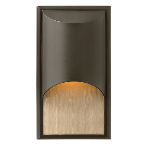 Hinkley Lighting Modern Outdoor Wall Light with Amber Glass in Bronze Finish 1830BZ-GU24