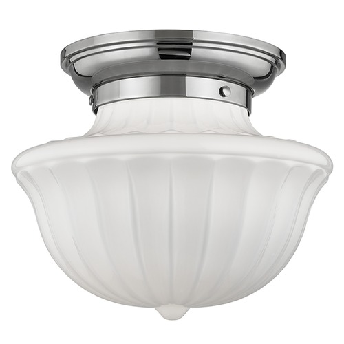 Hudson Valley Lighting Dutchess 1 Light Semi-Flushmount Light - Polished Nickel 5012F-PN