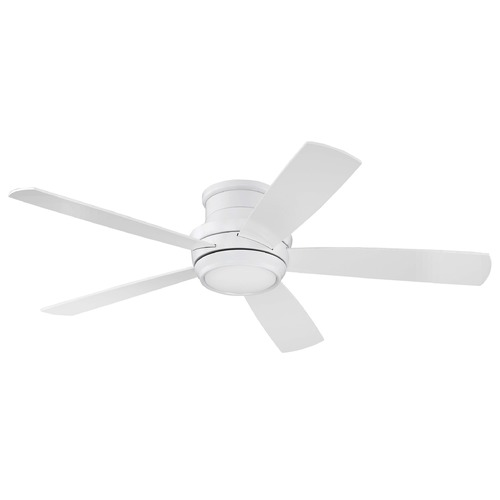 Craftmade Lighting Craftmade Lighting Tempo Hugger White LED Ceiling Fan with Light TMPH52W5