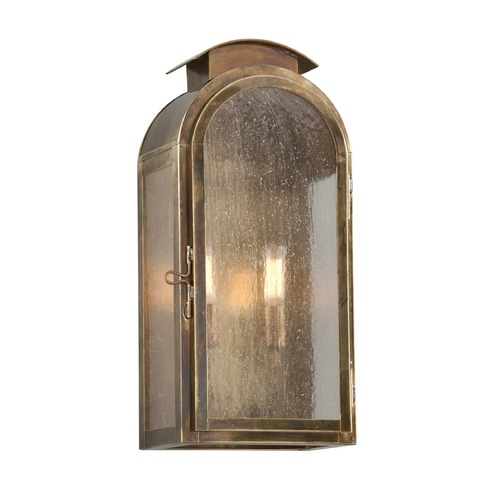 Troy Lighting Frosted Seeded Glass Outdoor Wall Light Brass Troy Lighting BF4402HBZ