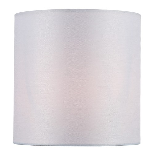 Lite Source Lighting White Cylindrical Lamp Shade with Clip-on Assembly CH5250-5