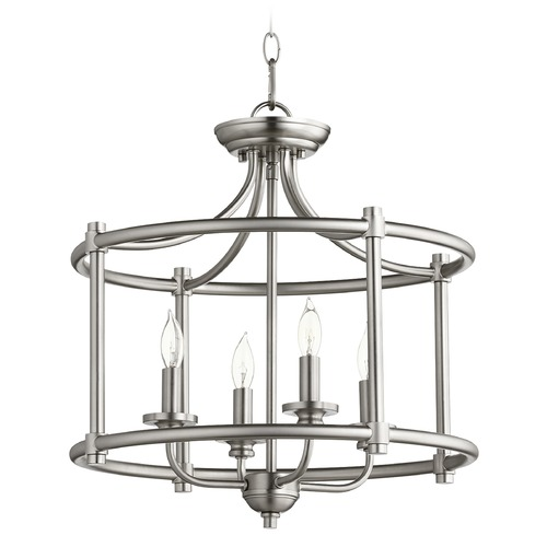 Quorum Lighting Quorum Lighting Rossington Satin Nickel Pendant Light 2822-18-65