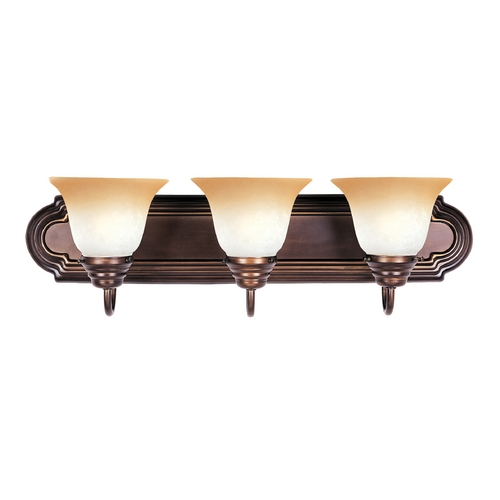 Maxim Lighting Bathroom Light with Beige / Cream Glass in Oil Rubbed Bronze Finish 8013WSOI