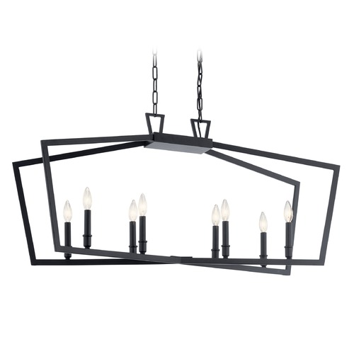 Kichler Lighting Kichler Lighting Abbotswell 8-Light Black Pendant Light 43494BK