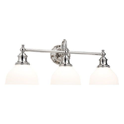 Hudson Valley Lighting Bathroom Light with White Glass in Old Bronze Finish 5903-OB