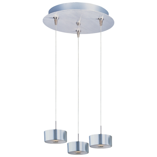 ET2 Lighting Modern Low Voltage Multi-Light Pendant Light with Clear Shades and 3-Lights E94608-09SN