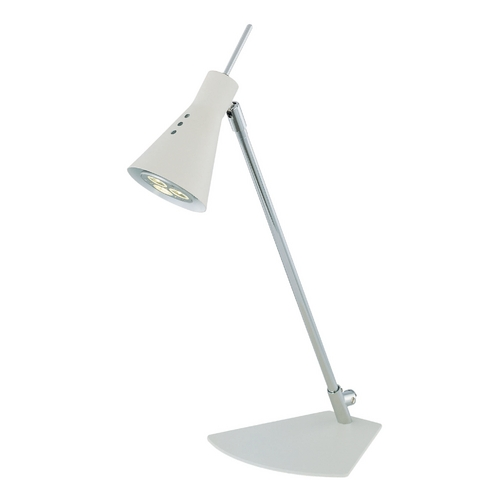 Lite Source Lighting Lite Source Lighting Leivik Chrome LED Desk Lamp LS-21563C/WHT