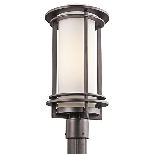 Kichler Lighting Kichler Post Light with White Glass in Architectural Bronze Finish 49349AZ