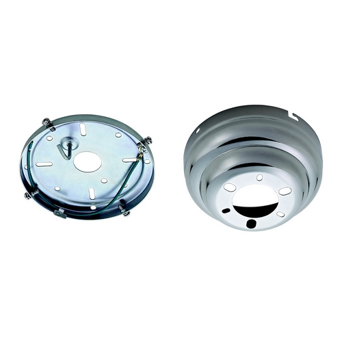 Monte Carlo Fans Ceiling Adaptor in Polished Nickel Finish MC90PN