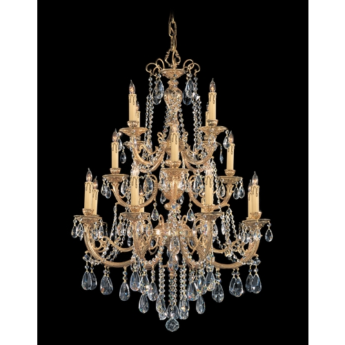 Crystorama Lighting Crystal Chandelier in Olde Brass Finish 480-OB-CL-S