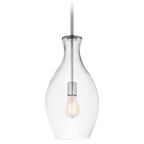 Kichler Lighting Kichler Modern Mini-Pendant Light with Clear Glass 42047CH
