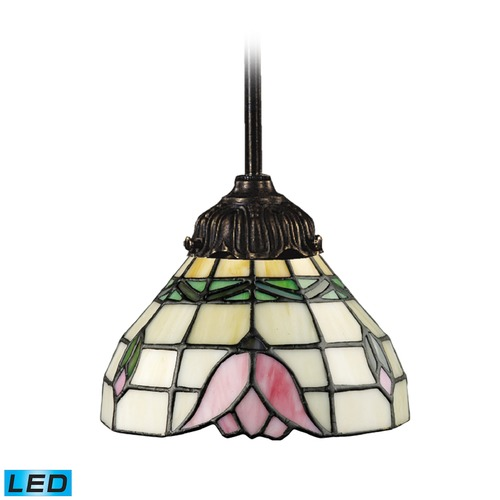 Elk Lighting Elk Lighting Mix-N-Match Tiffany Bronze LED Mini-Pendant Light with Bowl / Dome Shade 078-TB-09-LED