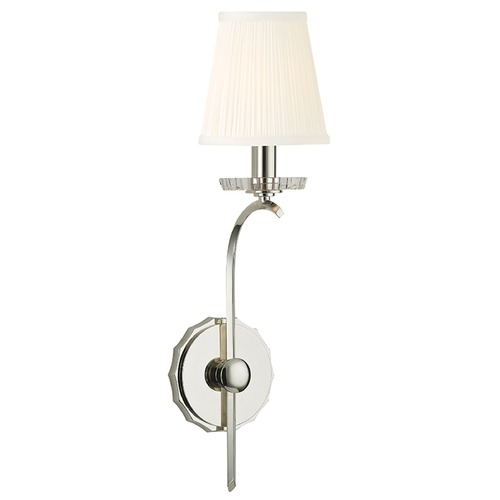 Hudson Valley Lighting Clyde 1 Light Sconce - Polished Nickel 4481-PN