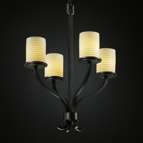 Justice Design Group Justice Design Group Limoges Collection Chandelier POR-8780-10-SAWT-MBLK
