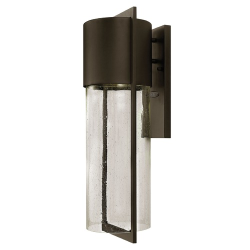 Hinkley Lighting Seeded Glass Outdoor Wall Light Bronze Hinkley Lighting 1325KZ