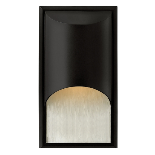 Hinkley Lighting Modern Outdoor Wall Light with White Glass in Satin Black Finish 1830SK-GU24