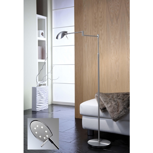 Holtkoetter Lighting Holtkoetter Modern LED Swing Arm Lamp in Satin Nickel Finish 6424LEDP1 SN