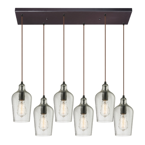 Elk Lighting Multi-Light Pendant Light with Clear Glass and 6-Lights 10331/6RC-CLR