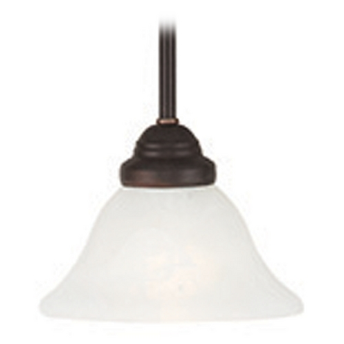 Livex Lighting Livex Lighting Coronado Bronze Mini-Pendant Light with Bell Shade 6110-07
