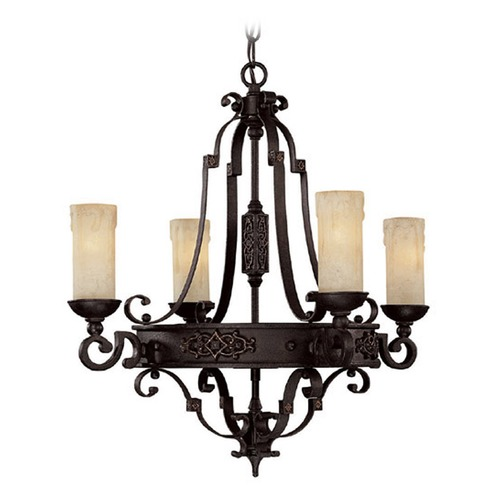 Capital Lighting Capital Lighting River Crest Rustic Iron Mini-Chandelier 3604RI-279