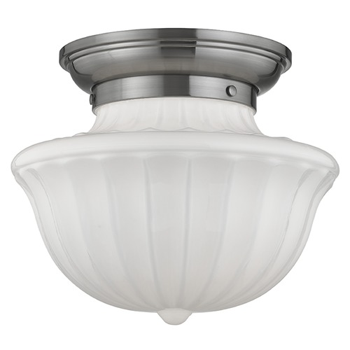 Hudson Valley Lighting Dutchess 1 Light Semi-Flushmount Light - Satin Nickel 5012F-SN