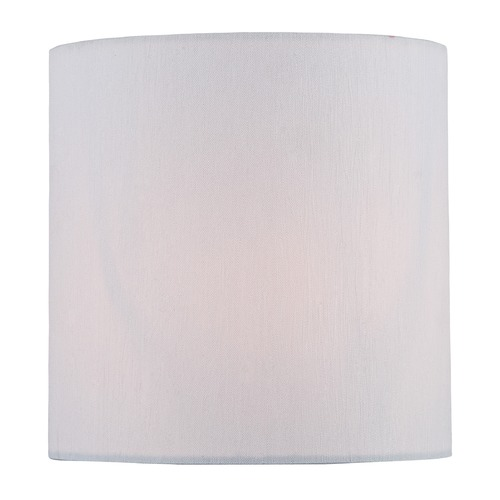Lite Source Lighting White Cylindrical Lamp Shade with Clip-on Assembly CH5251-5