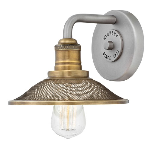 Hinkley Farmhouse Sconce Antique Nickel Rigby by Hinkley 5290AN