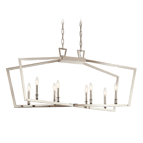 Kichler Lighting Kichler Lighting Abbotswell 8-Light Polished Nickel Pendant Light 43494PN
