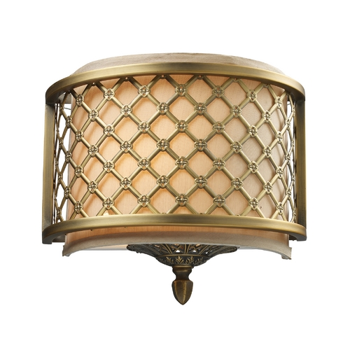 Elk Lighting Sconce Wall Light in Brushed Antique Brass Finish 31030/1