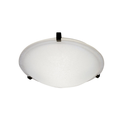 PLC Lighting Modern Flushmount Light with White Glass in White Finish 3464 WH