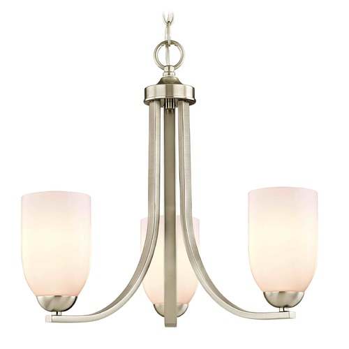 Design Classics Lighting Design Classics Dalton Fuse Satin Nickel Mini-Chandelier 5843-09 GL1024D