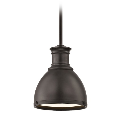Design Classics Lighting Industrial Bronze Metal Mini-Pendant 7.38-Inch Wide 1761-220 SH1775-220 R1775-220