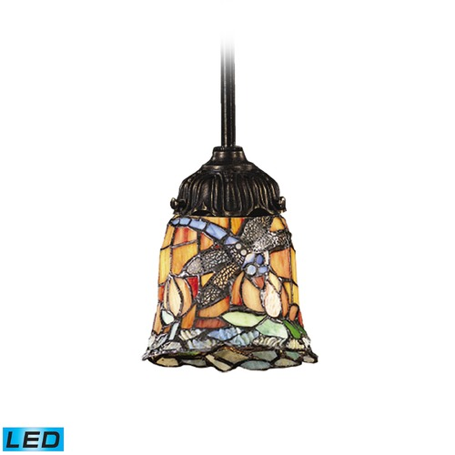 Elk Lighting Elk Lighting Mix-N-Match Tiffany Bronze LED Mini-Pendant Light with Bell Shade 078-TB-12-LED
