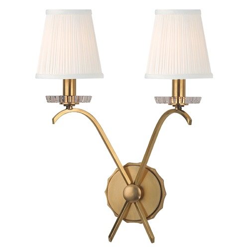 Hudson Valley Lighting Clyde 2 Light Sconce - Aged Brass 4482-AGB