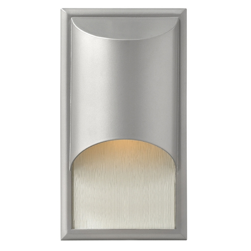 Hinkley Lighting Modern Outdoor Wall Light with White Glass in Titanium Finish 1830TT-GU24