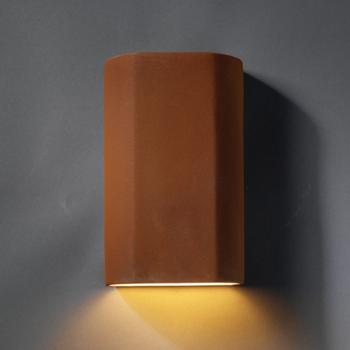 Justice Design Group Outdoor Wall Light in Real Rust Finish CER-5500W-RRST