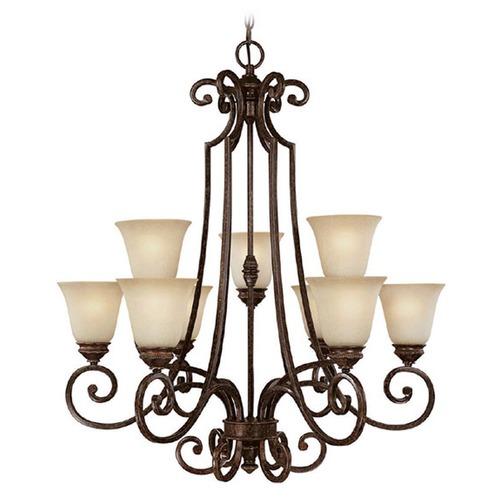 Capital Lighting Capital Lighting Barclay Chesterfield Brown Chandelier 3589CB-287