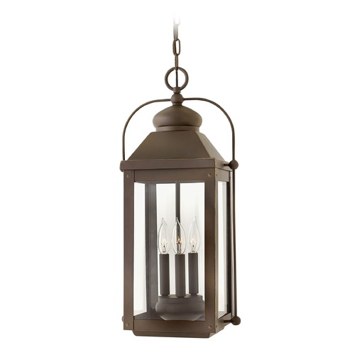 Hinkley Lighting Hinkley Lighting Anchorage Light Oiled Bronze Outdoor Hanging Light 1852LZ