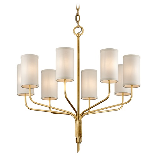 Troy Lighting Troy Lighting Juniper Textured Gold Leaf Chandelier F6168
