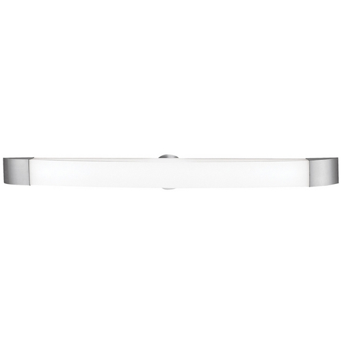 Access Lighting Modern Bathroom Light with White Glass in Brushed Steel Finish 31005-BS/OPL