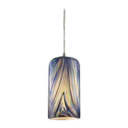 Modern Mini Pendant Light With Multi Color Glass 544 1mo